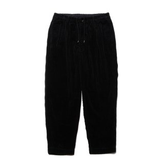 COOTIE/RANDOM CORDUROY 1 TUCK EASY PANTS/ブラック