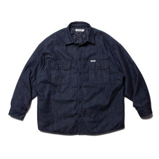 <img class='new_mark_img1' src='https://img.shop-pro.jp/img/new/icons8.gif' style='border:none;display:inline;margin:0px;padding:0px;width:auto;' />COOTIE/DENIM QUILTING SHIRT JACKET/インディゴ