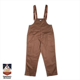 <img class='new_mark_img1' src='https://img.shop-pro.jp/img/new/icons8.gif' style='border:none;display:inline;margin:0px;padding:0px;width:auto;' />COOKMAN/FISHERMAN'S BIB OVERALL/チョコレート