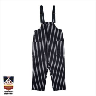 <img class='new_mark_img1' src='https://img.shop-pro.jp/img/new/icons8.gif' style='border:none;display:inline;margin:0px;padding:0px;width:auto;' />COOKMAN/FISHERMAN'S BIB OVERALL/ストライプブラック