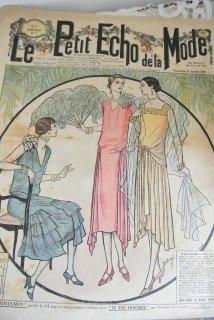 フランスアンティーク ファッション誌「ル・プティ・エコー・ド・ラ・モード」1928年1月 【普通郵便送料無料】