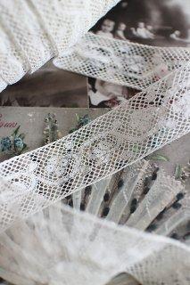 アンティーク ヴァランシエンヌ・レース テープ 2.5X50cm〜切売可【普通郵便送料無料】