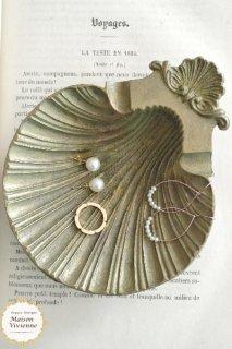 フランスアンティーク シェルモチーフの真鍮アッシュトレイ(アクセサリートレイ)