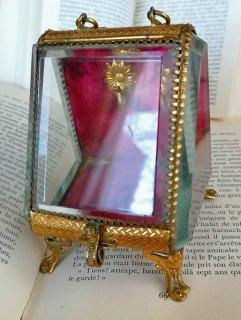 フランスアンティーク ナポレオン3世時代 クリスタル時計ボックス 懐中時計ケース