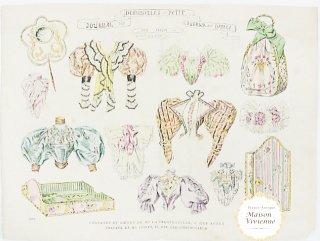 フランスアンティーク 1830年代または90年代のジゴ袖のファッションプレート