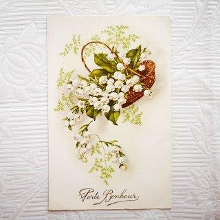 すずらんの花籠のポストカード【普通郵便送料無料】