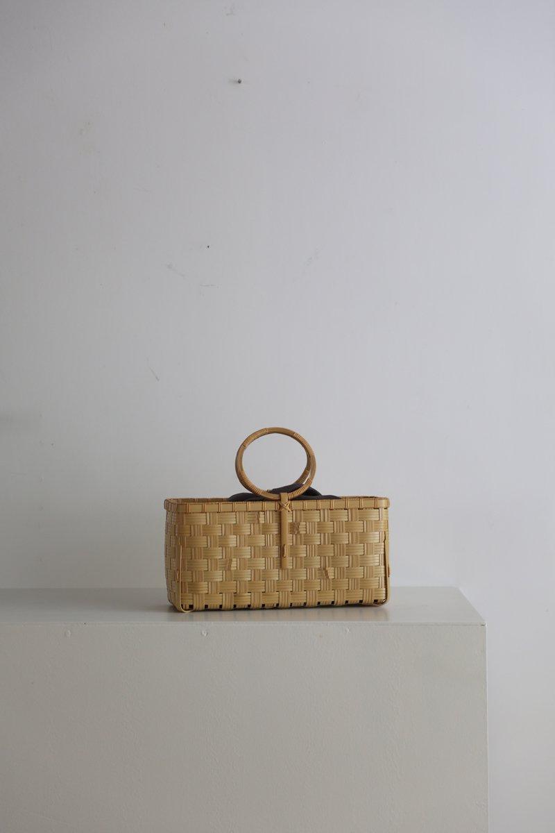 Checkerd bag|white