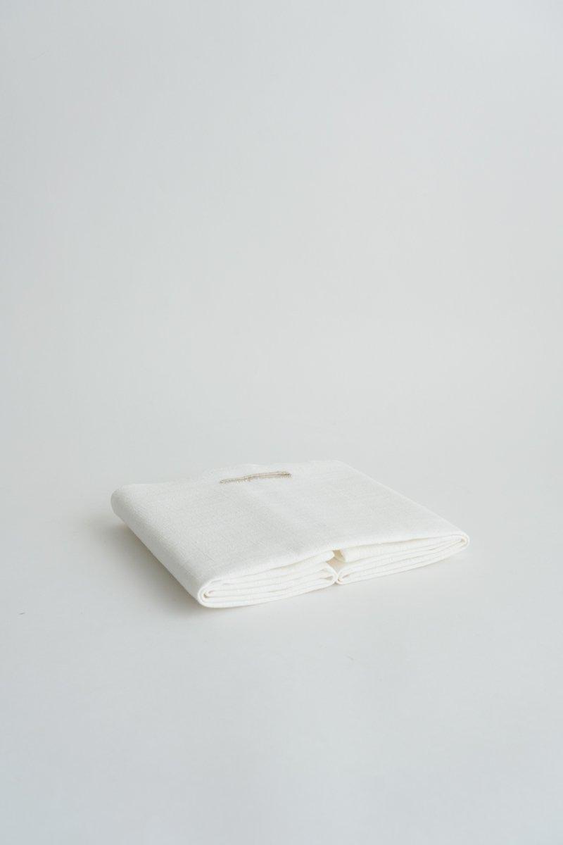 手織り綿布巾|白