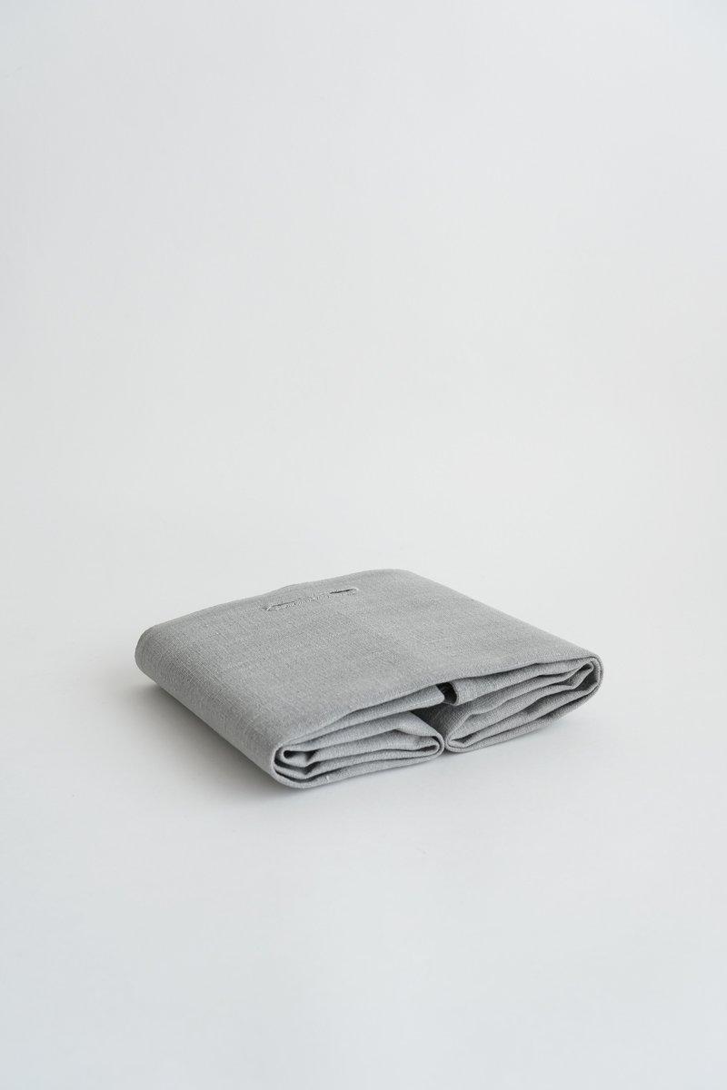 手織り綿布巾|墨染め淡