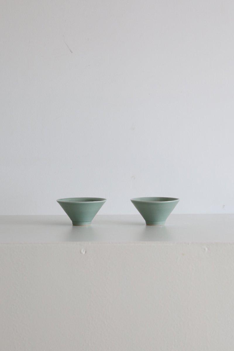 青磁煎茶杯|green