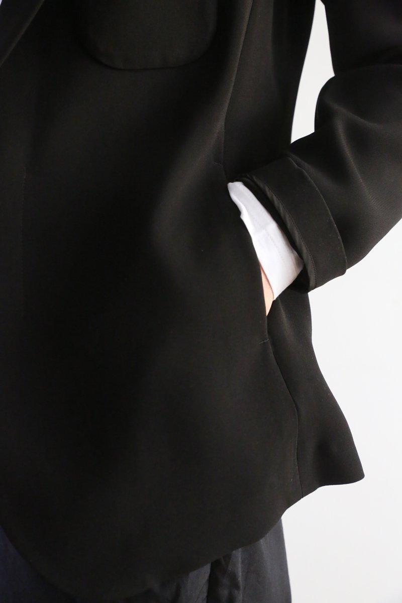 ストレッチブラック Tailored jacket|black