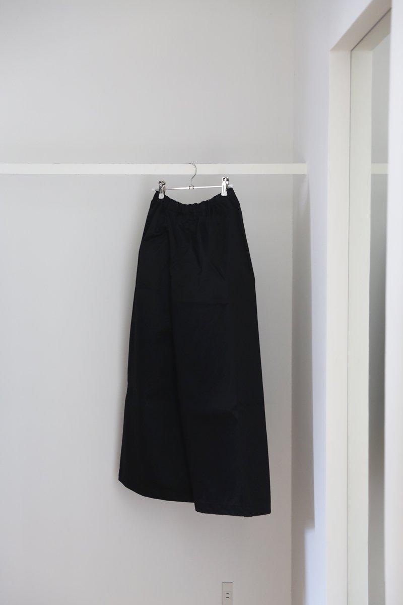 ポケット付きゴムズボン|cotton twill