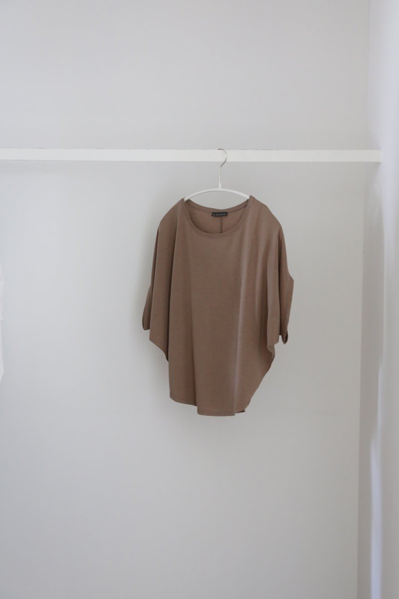 Loose T-shirt|brown