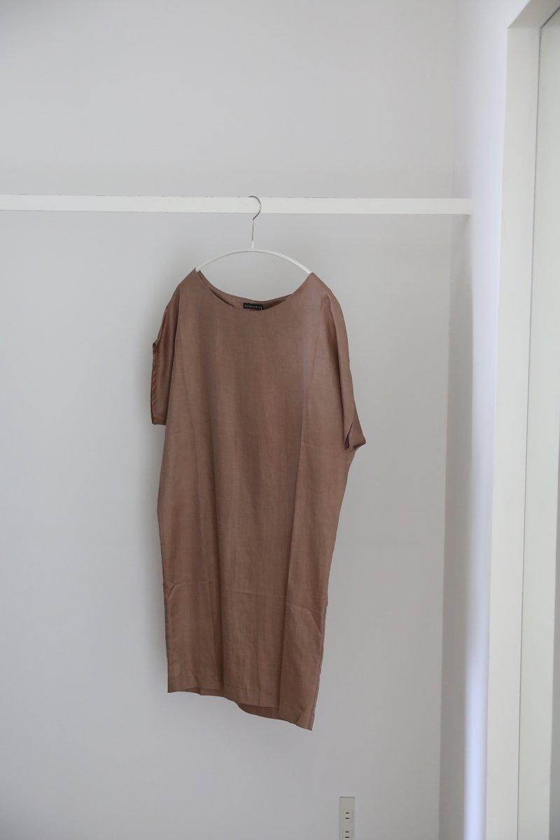 Short sleeve dress|brown