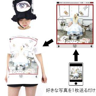 スマホ画面スクショ風テンプレ プリントTシャツ ホワイト  5.6oz(5001-01使用) S〜XL オリジナルデザイン