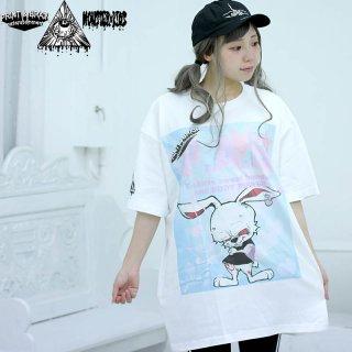 ゆめかわ P.A.B Tシャツ ホワイト 5.6oz(500101) XXL モンスターキッズ×プリントアンドブレイン コラボT