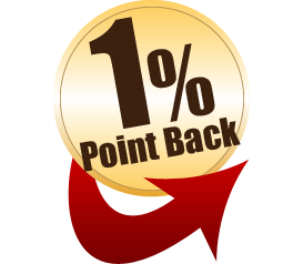 1% point back
