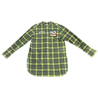 〈SALE50%off〉Check Shirts (lime)