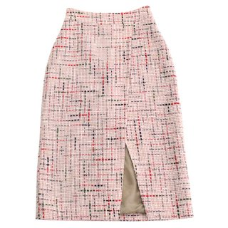 〈SALE50%off〉tweed skirt (red)