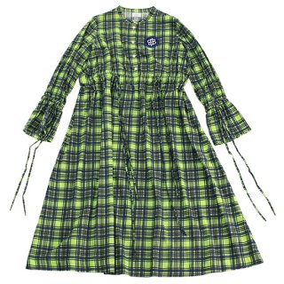 〈SALE50%off〉Check Dress (lime)