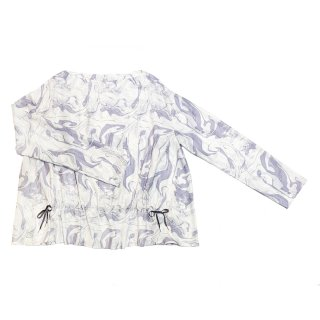 marble gather blouse (purple)
