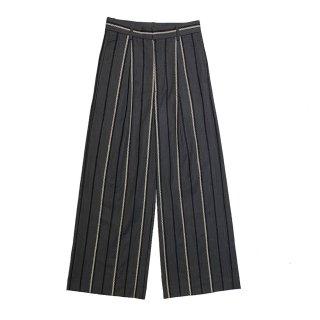 cross stripe pants woman (dark gray)