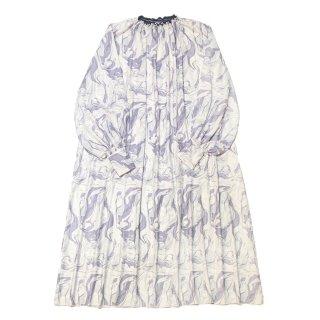 marble maxi dress (purple)