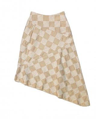 panel emb skirt (beige)