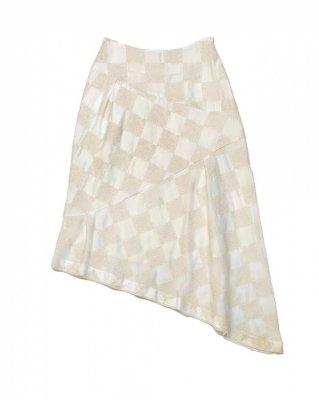 panel emb skirt (white)