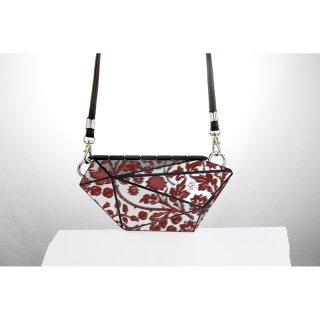 <予約商品> metal bag (M) / flower print-red