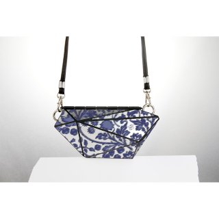 <予約商品> metal bag (M) / flower print-blue