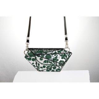 <予約商品> metal bag (M) / flower print-green