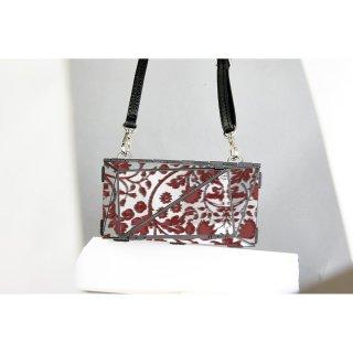 <予約商品> metal bag (L) / flower print-red