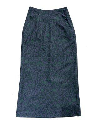 print scrath skirt (purple×green)
