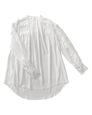 gathering tunic shirts (white)