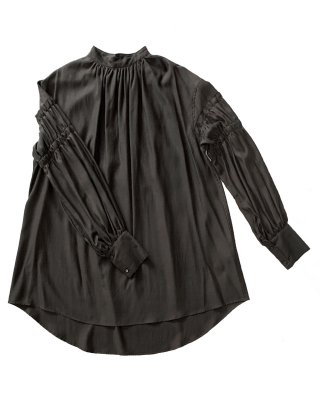 gathering tunic shirts (charcoal)