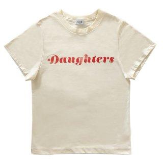 [daughters × tiit tokyo] logo T shirt (Ivory)