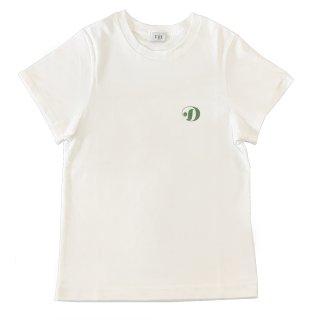 [daughters × tiit tokyo] hand print T shirt (white)
