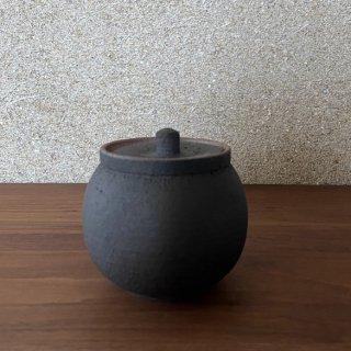 塩壺 黒 小 | 信楽焼