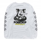 PORKCHOP/ポークチョップ/PORK MOON PHOTO L/S TEE/WHITE