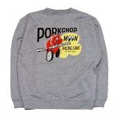 PORKCHOP/ポークチョップ/PORK MOON CAMS SWEAT/GRAY