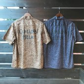 CAPTAINS HELM/キャプテンズヘルム/【送料無料】/#LEOPARD PRINT OPEN WIDE S/S SHIRTS CH LOGO PRINT