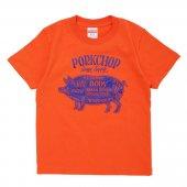 PORKCHOP/ポークチョップ/PORK FRONT TEE for Kids/CALIFORNIA ORANGE