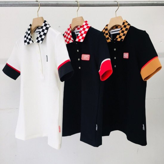 Checkered polo / women