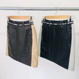 【Regina掲載】2-Tone Artleather Skirt / women