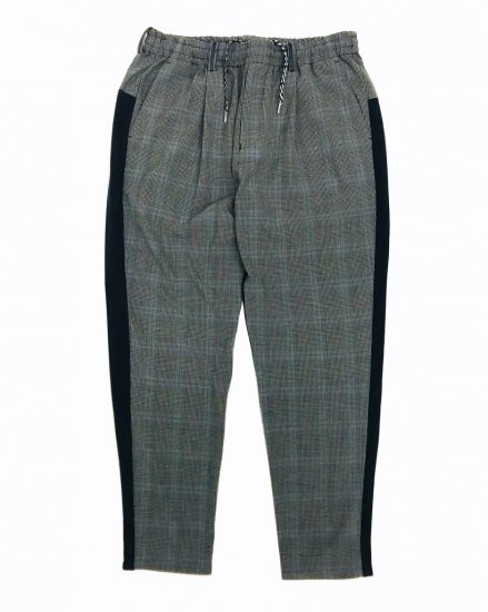 Glencheck Wide Tapered Slacks / men