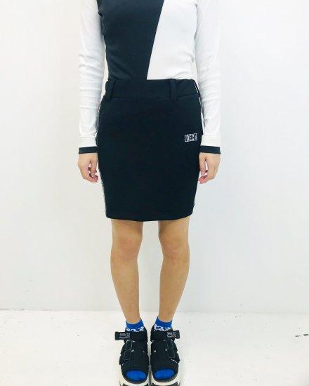 Asymmetry Doodle Skirt / women