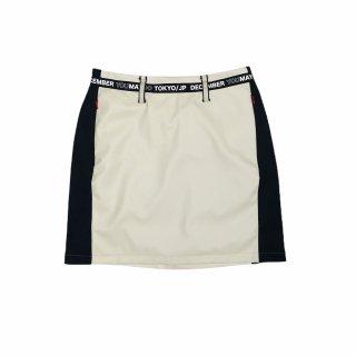 <即日出荷>2-Tone Artleather Skirt / women