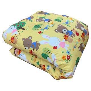 幼稚園・保育園のお昼寝ふとんに最適 合繊入り綿掛けふとん