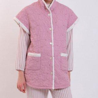 Narue(ナルエー )ピーチスキンキルトデイジーベスト フリーサイズ(ピンク)冬用 ルームウェア